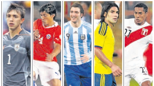 Nueve sudamericanos que jugaron o se criaron en otros países