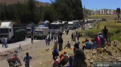 Protestas en Áncash contra la minería se amplían a huelga indefinida