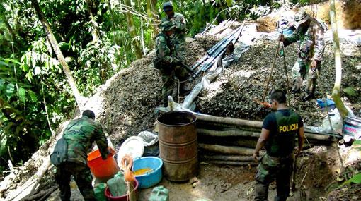 Tres laboratorios de droga fueron destruidos en Ucayali