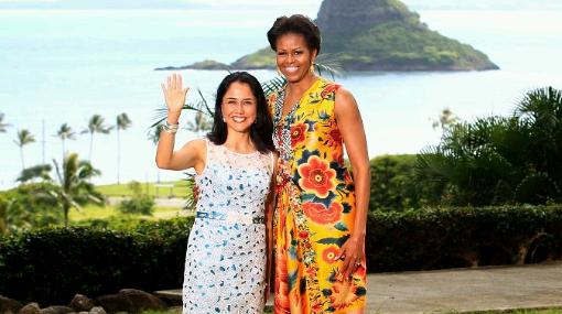 Nadine Heredia y esposas en APEC recibieron regalo de Michelle Obama