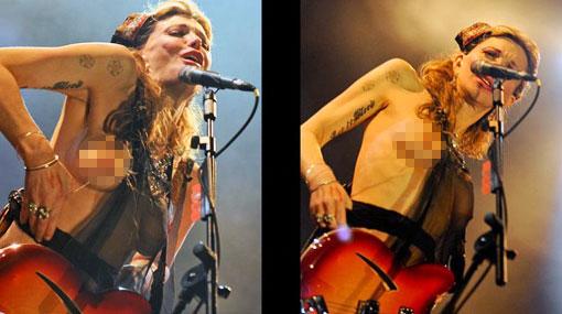 Courtney Love será recordada en Brasil por hacer topless y hablar mal de todos