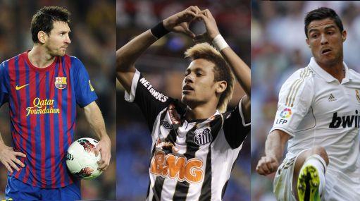 Neymar solo está detrás de Messi y Cristiano Ronaldo, dice DT de Santos