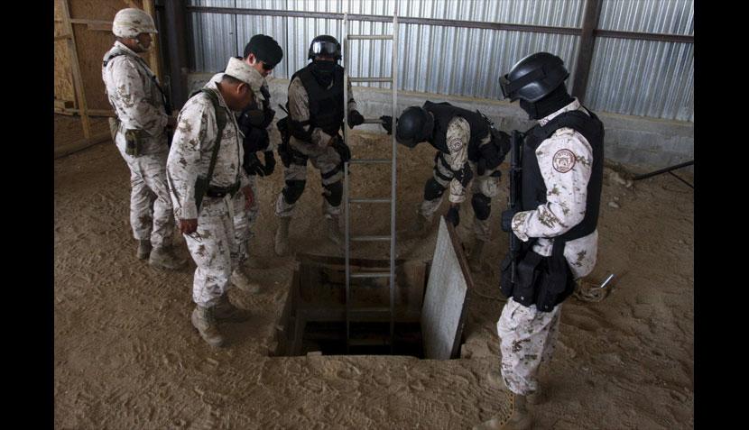 Descubren narcotúnel entre México y EE.UU. e incautan 18 toneladas de droga