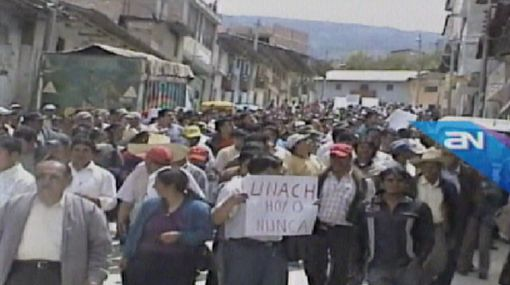 Paro en Chota: manifestantes bloquearon carreteras en protestas