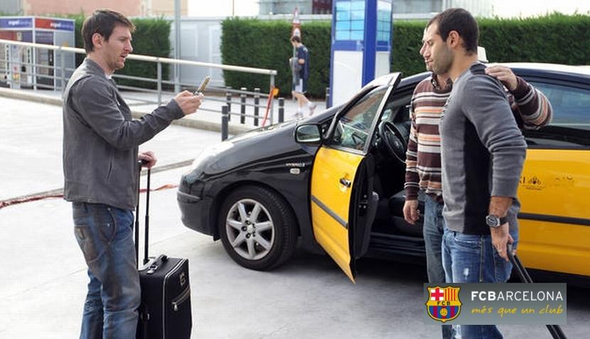 Lionel Messi y Javier Mascherano fueron los 'fotógrafos' de un taxista