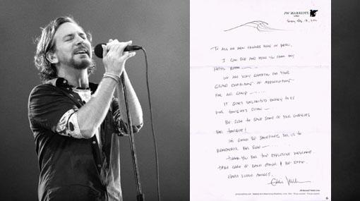 "Cantante de Pearl Jam a fans de Perú: ""Ustedes nos llenan de energía"""