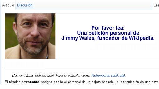 Cofundador de Google donó medio millón de dólares a Wikipedia