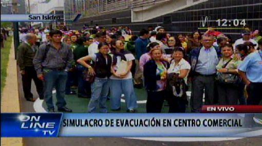Simulacro de sismo paralizó la zona comercial de San Isidro