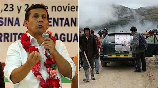 Humala llamó a la cordura y diálogo a manifestantes en Cajamarca