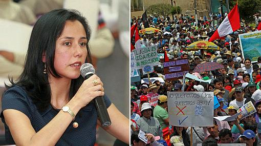 """Nadine sobre paro en Cajamarca: """"Nunca hay que romper el diálogo"""""""