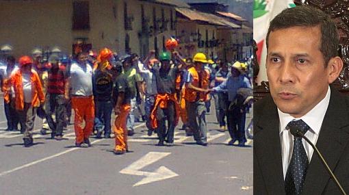 """Antimineros a Humala: """"Entendemos esto como una traición al pueblo"""""""