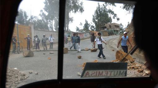Paro en Cajamarca: nuevo enfrentamiento dejó un herido