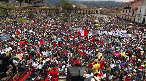 Antimineros piden a provincias de Cajamarca que se unan al paro