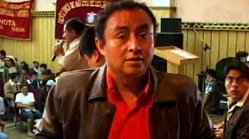 Presidente regional de Cajamarca llega hoy a Lima
