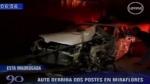 Un hombre se estrelló contra dos postes en Miraflores - Noticias de paro cardiaco