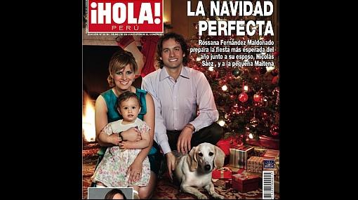 """Rossana Fernández Maldonado y su familia adornan la portada de Navidad de """"¡Hola! Perú"""""""