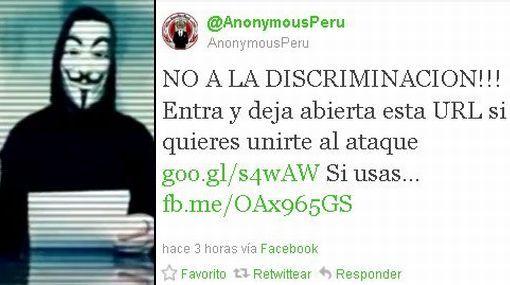 Anonymous promovió ataque al sitio web de los cines UVK