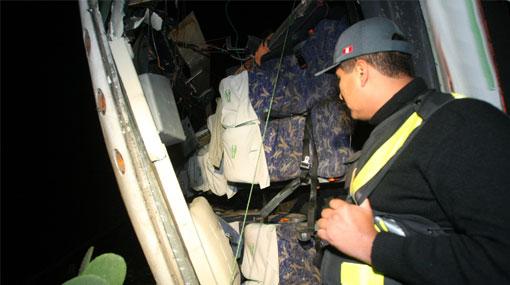 Bus que iba de Chiclayo a Lima se accidentó y dejó cerca de 30 heridos