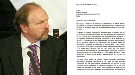 Los motivos que dio Salomón Lerner Ghitis para su renuncia a la PCM