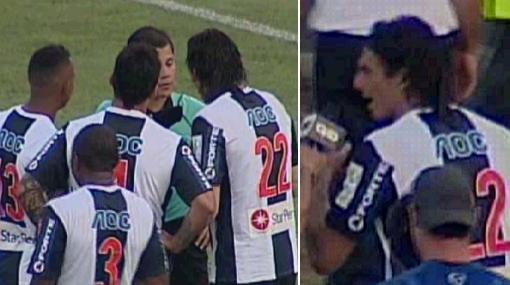 """La bronca de Fernández: """"El árbitro no tuvo personalidad, cobra el gol y después lo anula"""""""