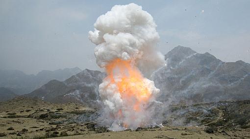 Casi media tonelada de pirotécnicos fue incinerada en Trujillo