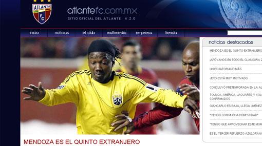 Andrés Mendoza fichó por el Atlante de México