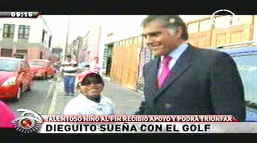 Niño Diego Brañez feliz: volverá a jugar golf en el 2012