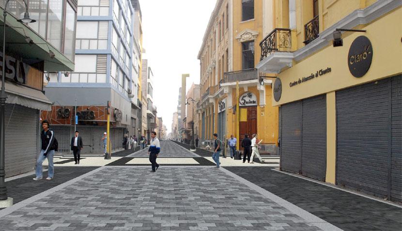 Así será el paseo peatonal de los jirones Ucayali e Ica en el Centro de Lima