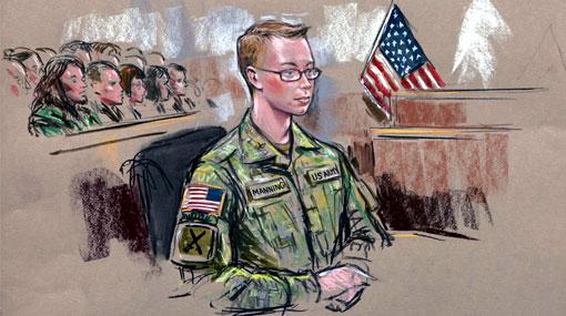 Soldado acusado de filtrar WikiLeaks pasó su cumpleaños en un tribunal