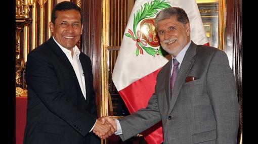 El presidente Humala se reunió con ministro de Defensa del Brasil
