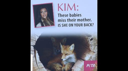 "Peta a Kim Kardashian: ""Extrañan a su madre, ¿está en tu espalda?"""