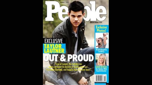 """Taylor Lautner """"salió del clóset"""" en falsa portada de """"People"""""""