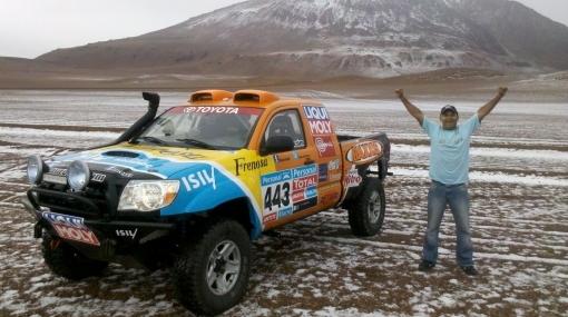 Equipo peruano que correrá el Dakar viajó por tierra hasta Mar del Plata
