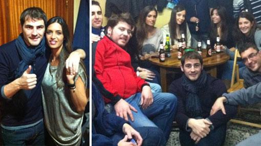 Casillas celebró Año Nuevo con su hermosa novia Sara Carbonero