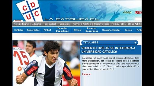 Roberto Ovelar jugará este año por la Universidad Católica de Chile