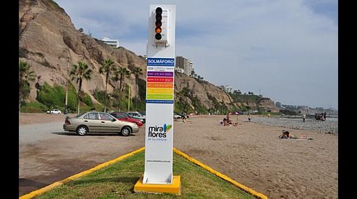 Conoce el Solmáforo, el índice de radiación en playas de Miraflores
