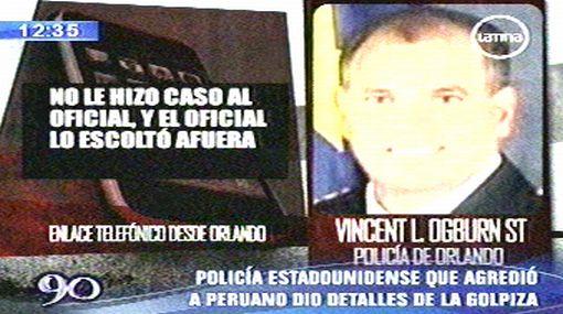 Policía de Orlando justificó brutal golpiza a joven peruano