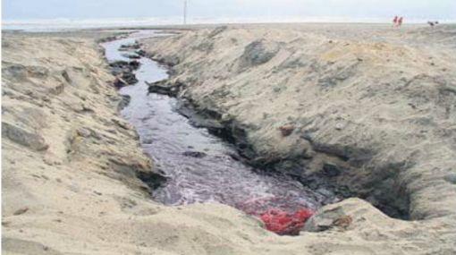 Cerrarán vertimientos que afectan playa Arica