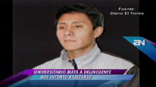 Estudiante que mató a asaltante será procesado por homicidio simple