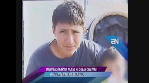 Estudiante que mató a asaltante fue trasladado al penal San Jorge