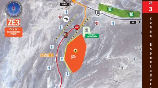 Mira el Dakar de cerca: las zonas de acceso en la ruta Nasca - Pisco