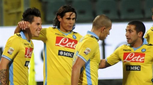 Gol de Cavani: Nápoles ganó al Cesena y pasó a cuartos de Copa Italia