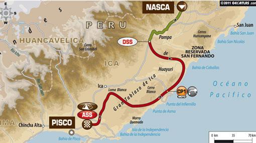 INFOGRAFÍA: la decisiva penúltima etapa del Rally Dakar
