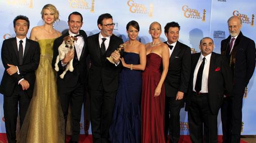 """""""The Artist"""", la película muda en blanco y negro, ganó el Globo de Oro"""