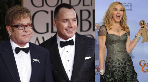 Esposo de Elton John se disculpó con Madonna tras criticarla duramente