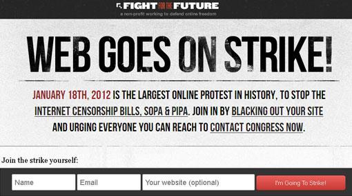 ¿Qué sitios web se 'apagarán' en protesta contra la ley SOPA?