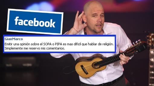"""Gian Marco sobre SOPA: """"Es más difícil que hablar de religión"""""""