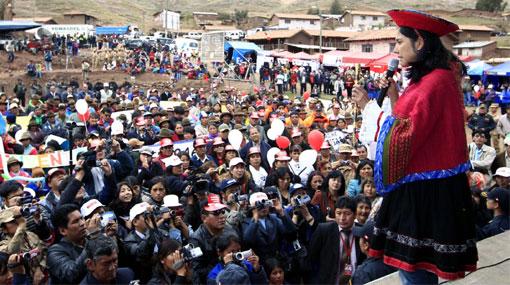 """Nadine Heredia: """"Así como el Perú crece, todos tenemos que crecer"""""""