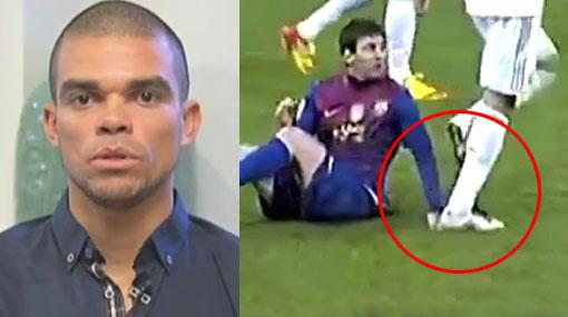 Pepe se salvó y no será suspendido por pisotón a Messi