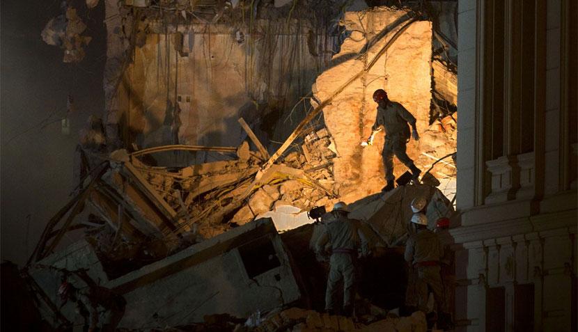 Brasil: el impresionante derrumbe de dos edificios en pleno centro de Rio de Janeiro
